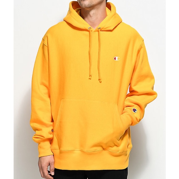 7d1c0e9082a5 Champion Reverse Weave Logo Gold Pullover Hoodie